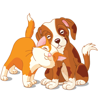 Cat And Dog Clipart Image