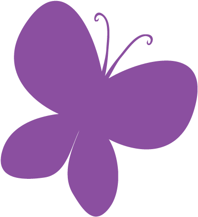 Purple Butterfly Clipart Image