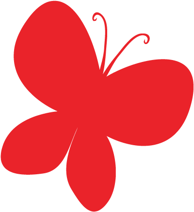 Red Butterfly Clipart Image