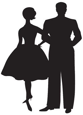 Bride And Groom Silhouette Clipart Image