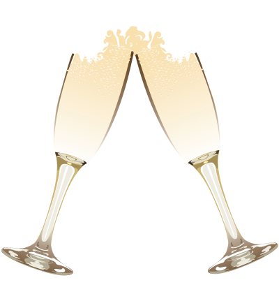 Champagne Glasses Clipart Image
