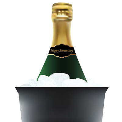 Champagne In Bucket Clipart Image