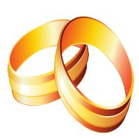 Gold Rings Clipart Image