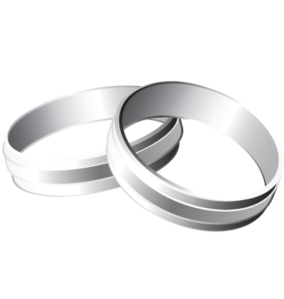 Silver Rings Clipart Image