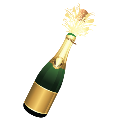 Champagne Bottle Clipart Image