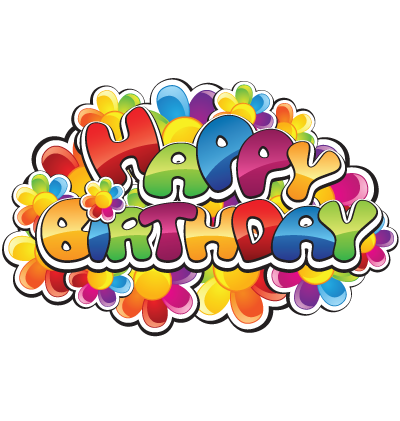 Happy Birthday Flowers Clipart Image