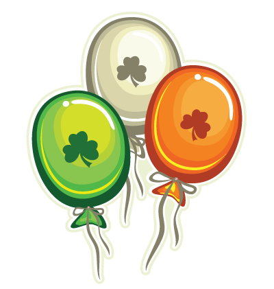 Irish Balloons Clipart Image