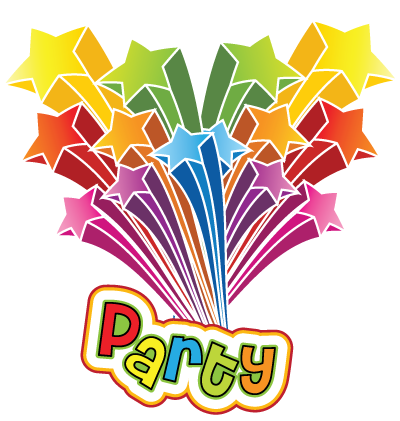 Party Stars Clipart Image