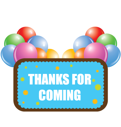 Thanks For Coming Clipart Image