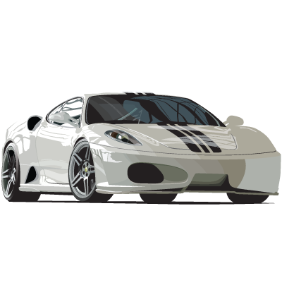 White Car Clipart Image