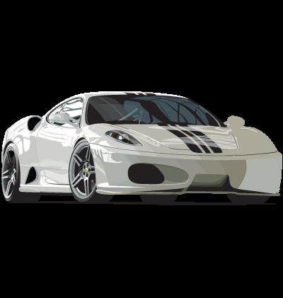 White Car Clipart Image