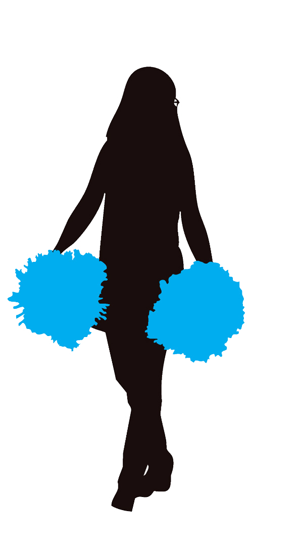 Cheerleader Blue Clipart Image