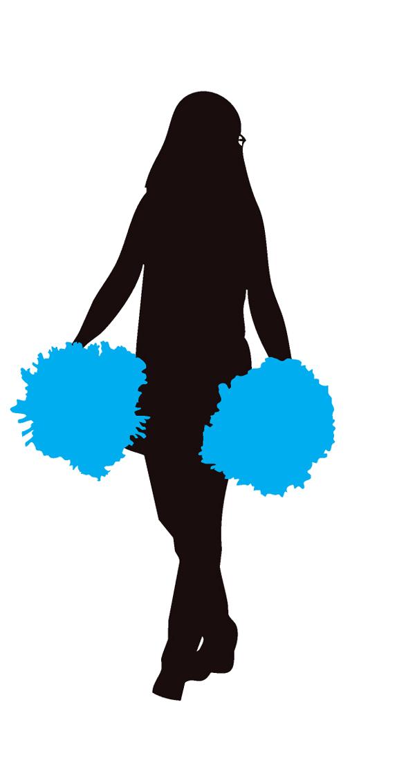 Cheerleader Blue Clipart Image