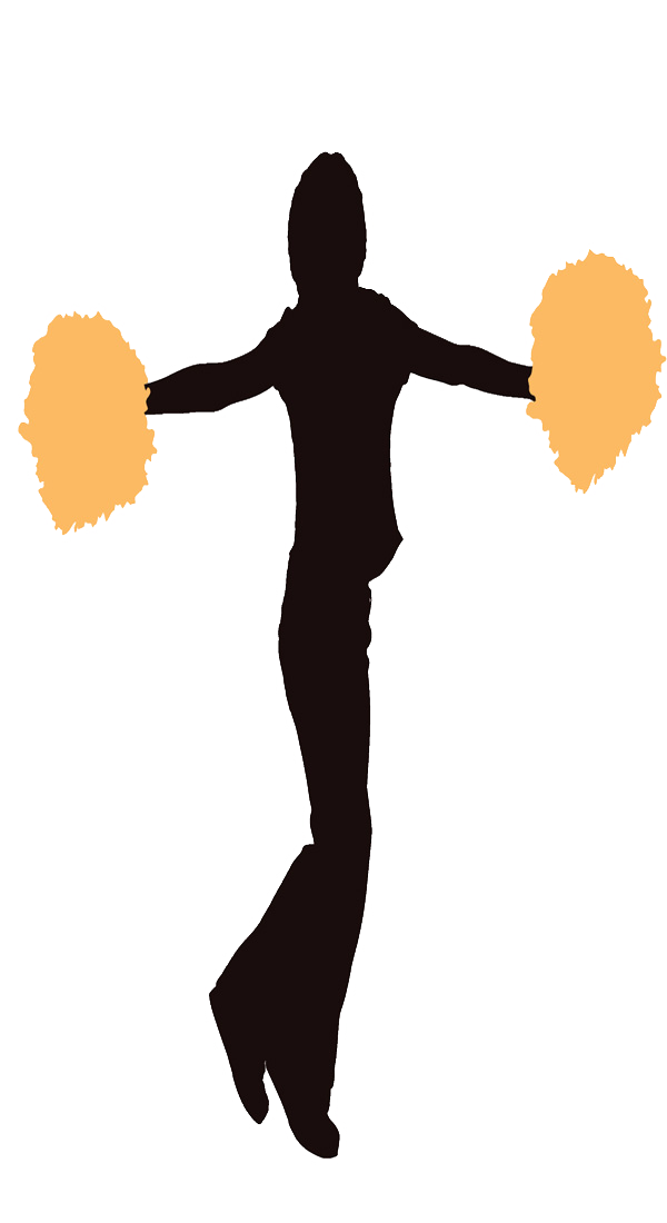 Cheerleader Light Orange Clipart Image