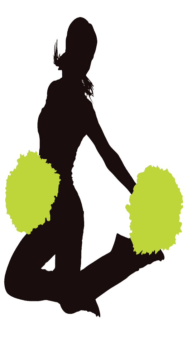 Cheerleader Lime Green Clipart Image