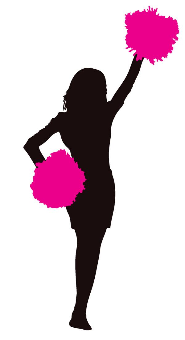 Cheerleader Pink Clipart Image