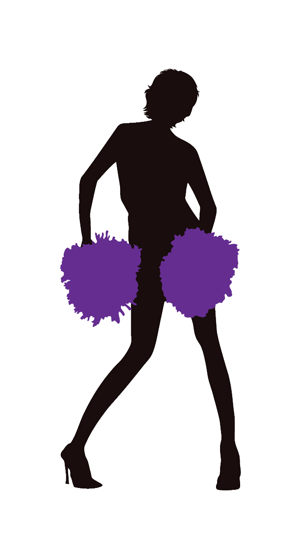 Cheerleader Purple Clipart Image