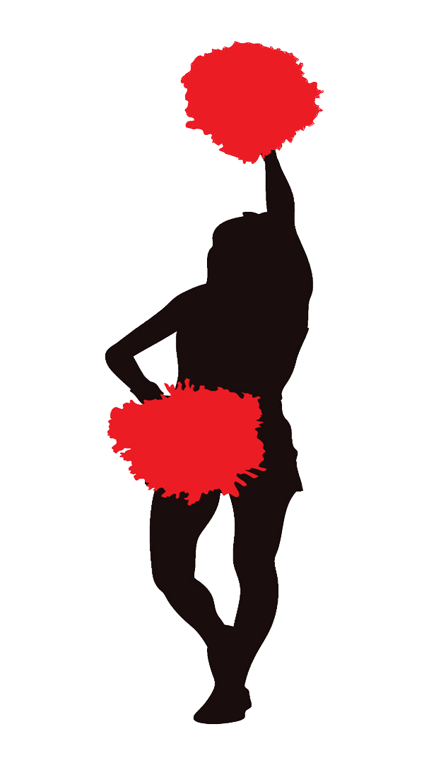 Cheerleader Red Clipart Image