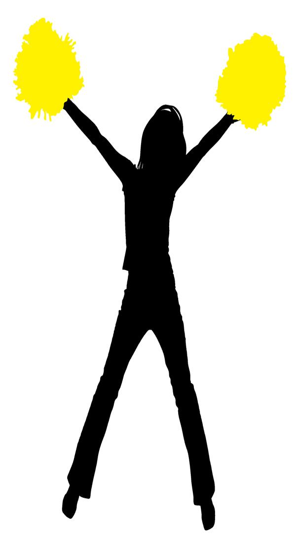 Cheerleader Yellow Clipart Image