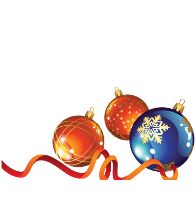 Christmas Baubles Clipart Image
