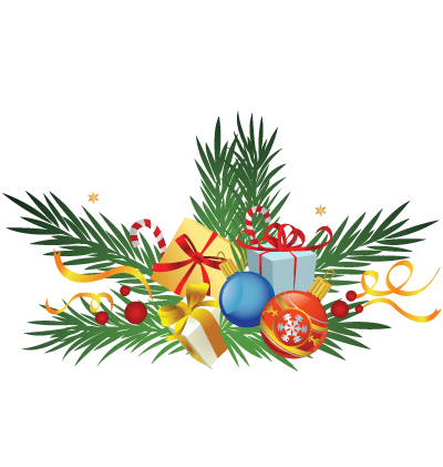 Christmas Decorations Clipart Image
