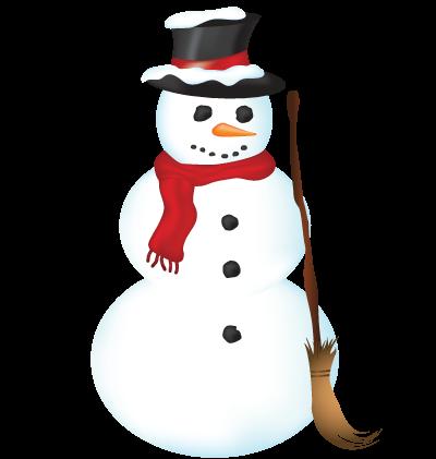 Christmas Snowman Clipart Image