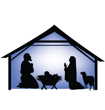 Christmas Stable Clipart Image