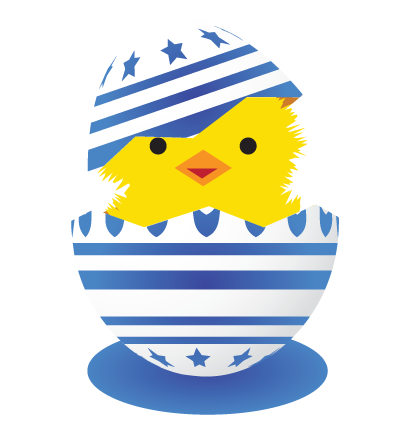 Easter Egg Blue Clipart Image