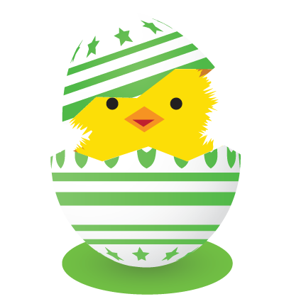 Easter Egg Green Clipart Image
