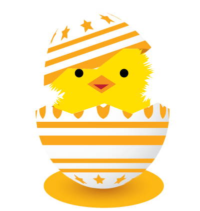 Easter Egg Orange Clipart Image