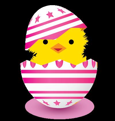 Easter Egg Pink Clipart Image