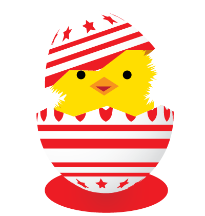 Easter Egg Red Clipart Image
