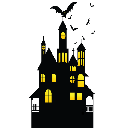 Halloween Haunted House Clipart Image