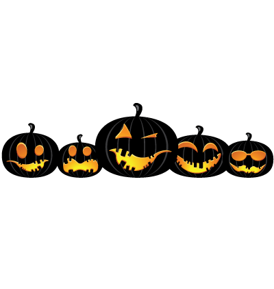 Halloween Pumpkins Clipart Image