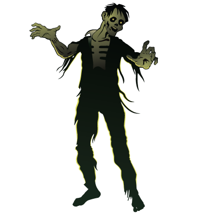 Halloween Zombie Clipart Image