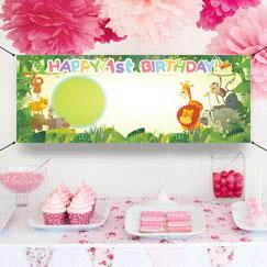Banners personalizados primer cumpleaños