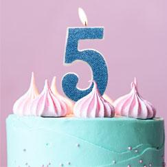 Suministros de la 5ta fiesta de cumpleaños