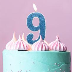 Suministros de la 9na fiesta de cumpleaños