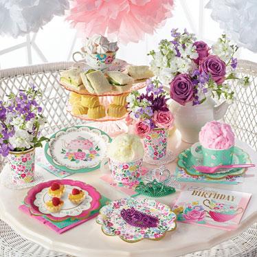 Fiesta del té floral