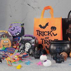 Golosinas de Halloween y juegos