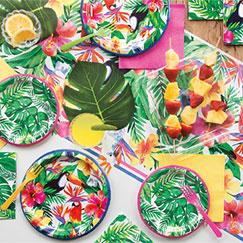Suministros y decoraciones para fiestas hawaianas