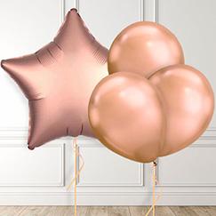 Globos de oro rosa