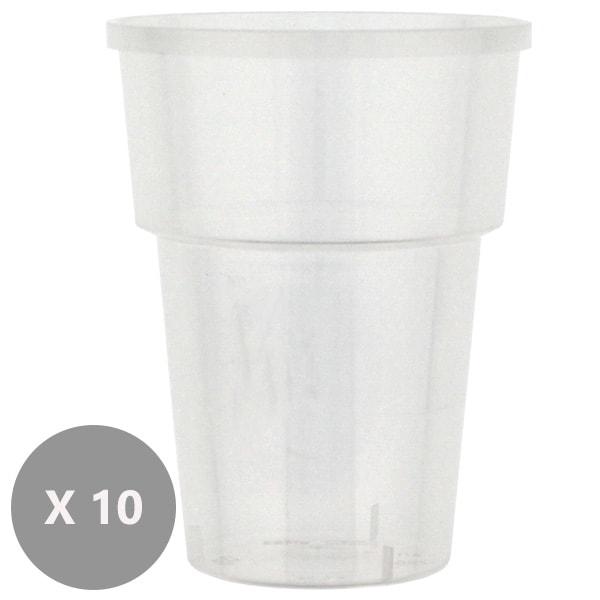 10 Vasos de Zumo de Plástico - 237ml