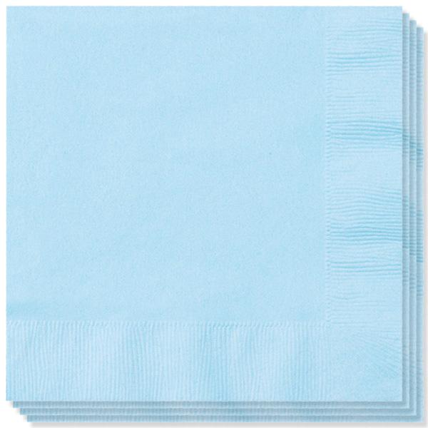100 Servilletas Azul bebé 40 cm 2 capas