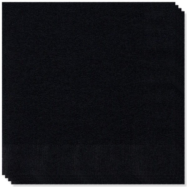 100 Servilletas Negras 40 cm 2 capas