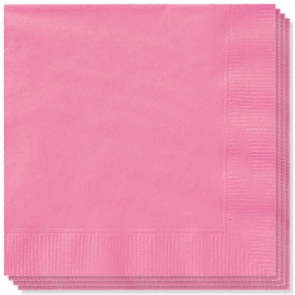 100 Rosa Caliente Servilletas 33cm 2 capas