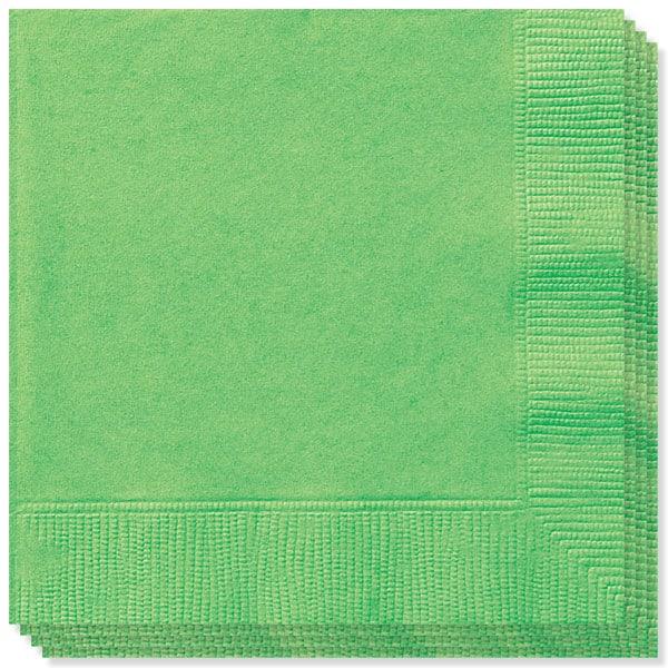 100 Servilletas Verde Lima 33cm 2 capas