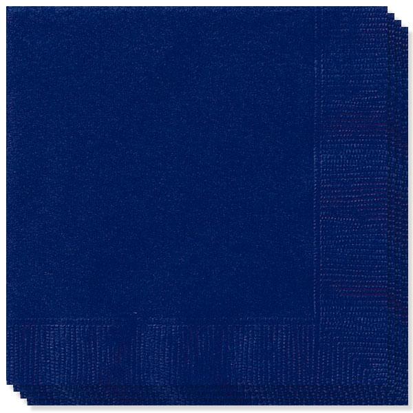 100 Servilletas Azul Marino 40cm 2 capas