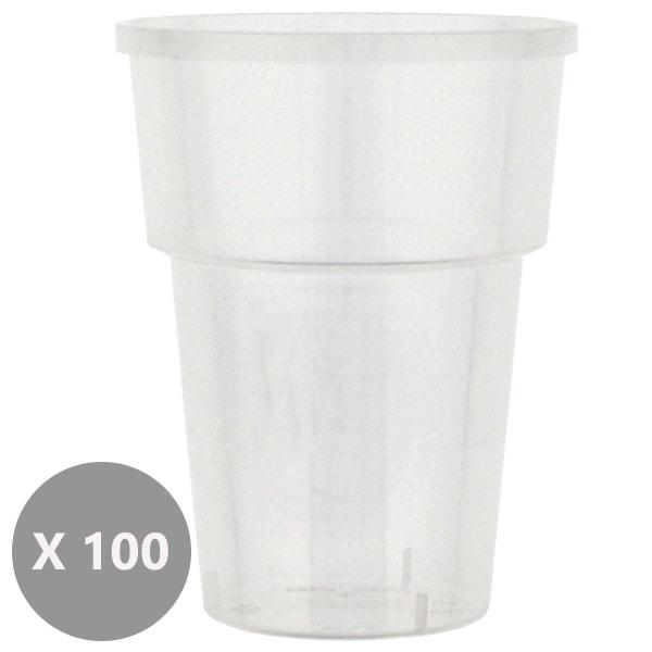 100 Vasos de Zumo de Plástico - 237ml