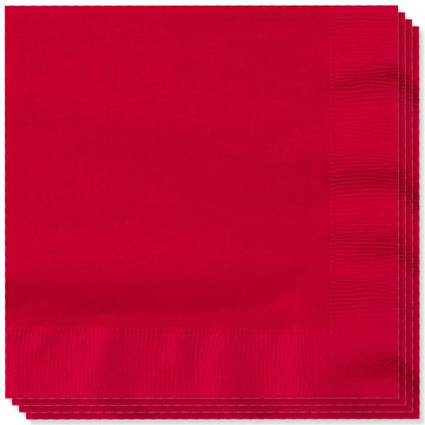 100 Servilletas Rojas 33cm 2 capas